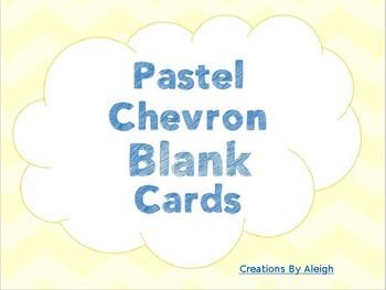 Pastel Chevron Blank Cards/Labels