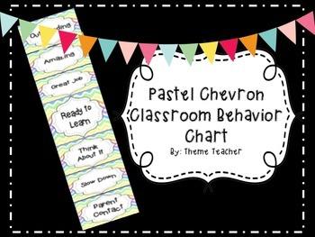 Pastel Chevron Classroom Behavior Chart