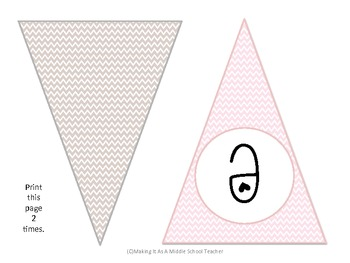 Pastel Chevron Classroom Decor Set ~ 20-Pages