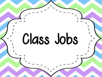 Pastel Chevron Classroom Jobs