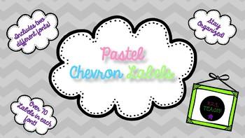 Pastel Chevron Classroom Labels