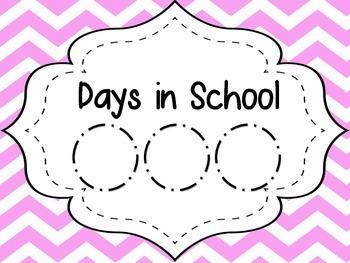 Pastel Chevron Days in School
