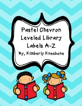 Reading Leveled Library Labels (A-Z) - Pastel Chevron