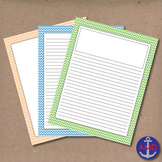 Pastel Chevron Lined Writing Paper for Writers Workshop, Bulletins & More
