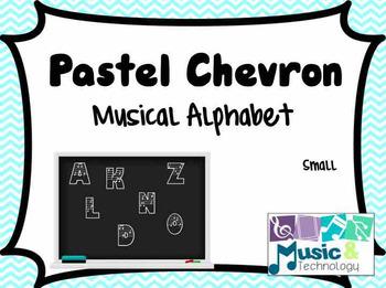 Pastel Chevron Musical Alphabet