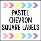 Pastel Chevron Square Labels