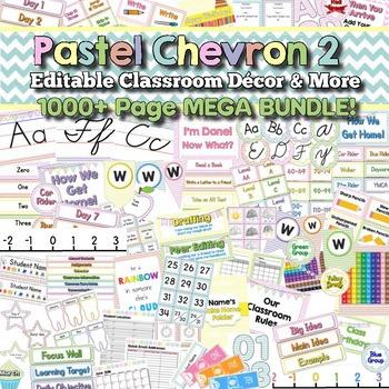 Pastel Chevron Theme 2