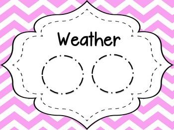 Pastel Chevron Weather Report