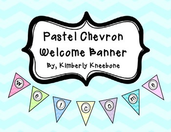 Welcome Banner Pennant - Pastel Chevron