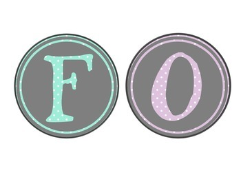 Pastel & Circle Themed Focus Board Banner