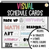 Pastel Class Schedule Cards for Back to School