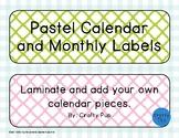 Pastel Classroom Calendar