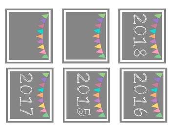 Pastel Classroom Calendar Materials