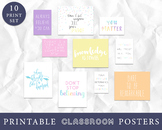 Pastel Classroom Decor, Inspirational Art Quotes for Stude