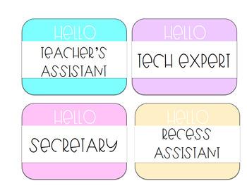 Pastel Classroom Jobs