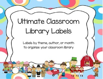 Pastel Classroom Library Labels