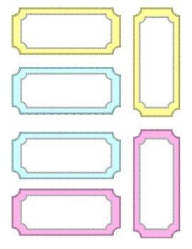 Pastel Classroom labels