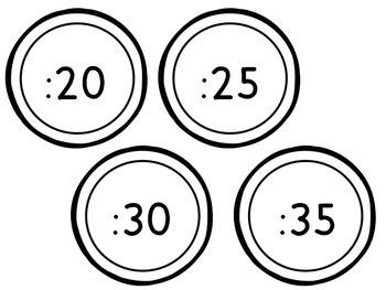 Pastel Clock Labels