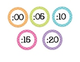 Pastel Clock Labels