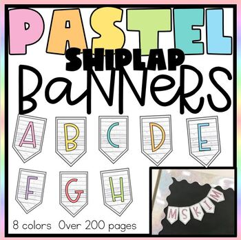 Pastel Color Banners- EVERY LETTER-