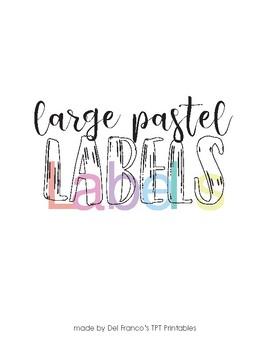 Pastel Color Labels