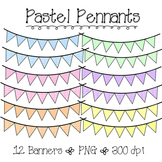 Pastel Colored Pennants