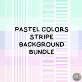 Pastel Colors Stripe Background Bundle