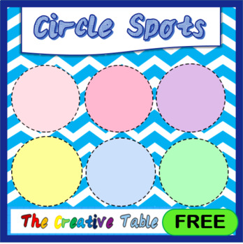 Pastel Coloured Circle Spots- Free for personal and commercial use!