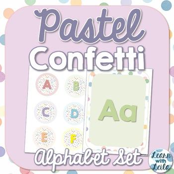 Pastel Confetti ABC Letters