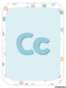 Pastel Confetti Decor Alphabet Set