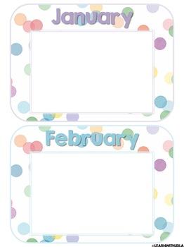 Pastel Confetti Calendar Set