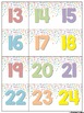 Pastel Confetti Decor Calendar Set