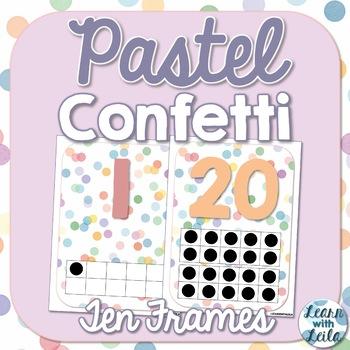 Pastel Confetti Decor Ten Frames