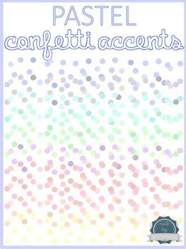 Pastel Confetti Page Accents