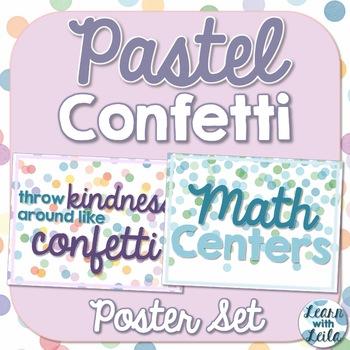 Pastel Confetti Decor Poster Set