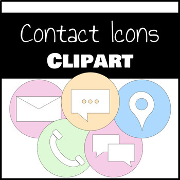 Pastel Contact Icons Clipart
