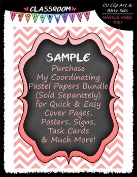 Pastel Cover Page Elements Clip Art - Frames Clip Art