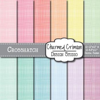 Pastel Crosshatch Digital Paper 1169