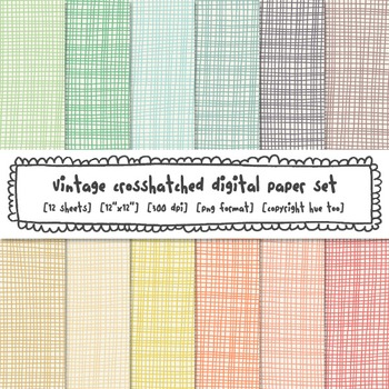 Vintage Pastel Crosshatch Digital Background, Pastel Digital Paper, TpT Sellers