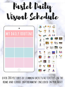 Pastel Daily Visual Schedule