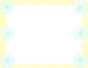 Pastel Daisy Chevron Backgrounds - 10 Styles
