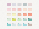 Pastel Desktop File Folders for MAC + Apple | Color Coded Icons