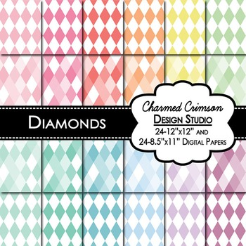 Pastel Diamond Digital Paper 1316