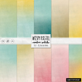 Pastel Digital Papers, Gradient Solid Card Stock, Easter Textured Backgrounds