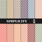 Pastel Digital Paper Pack | Simple Patterns | Printable Backgrounds