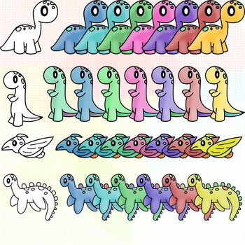 Pastel Dinosaurs Full Set