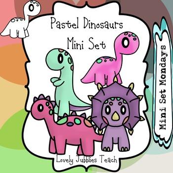 Pastel Dinosaurs Mini Set