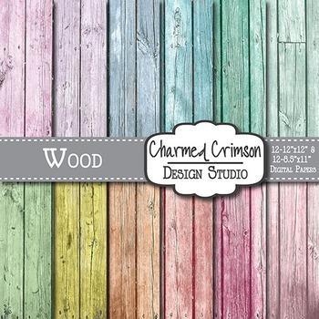Pastel Distressed Wood Digital Paper 1515