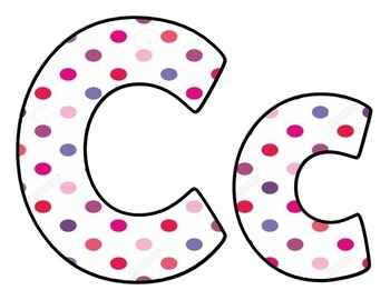 Pastel Dot Upper and Lower Case letters