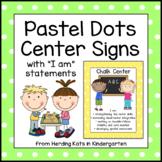 Pastel Polka Dots Center Signs